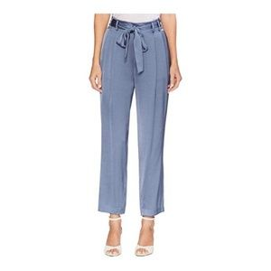 Vince Camuto Womens Satin Straight Leg Pants Blue